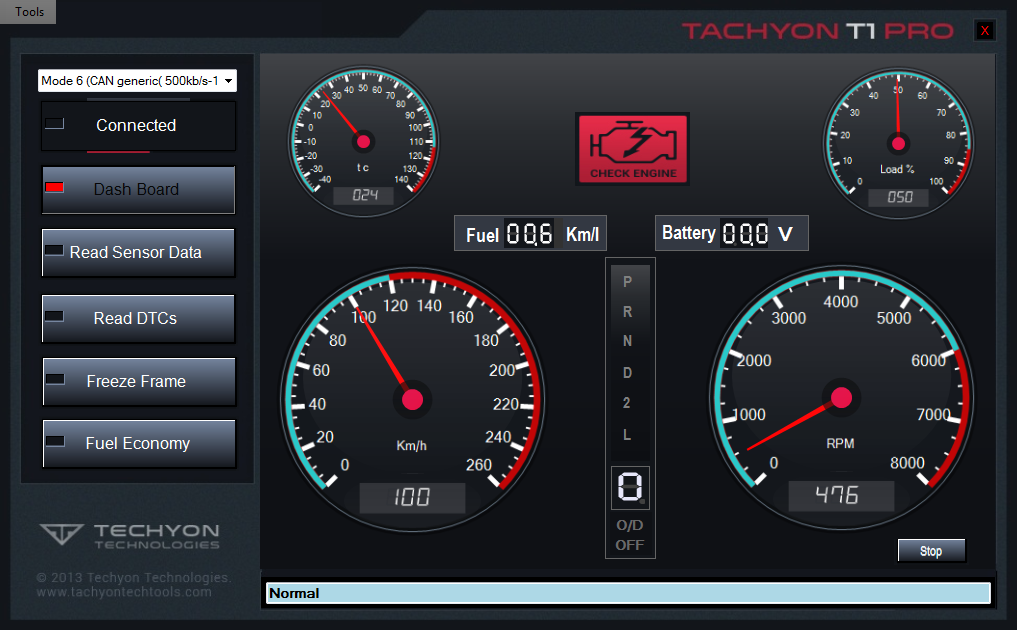 Tachyon T1 Toyota Software